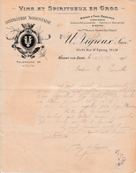 1923 - NOGENT-sur-SEINE (10) - DISTILLERIE NOGENTAISE - PUIG & ASPARRE - France