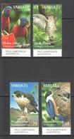 C468 VANUATU FAUNA BIRDS LORIKEET FALCON KINGFISCHER CUCKOO #1081-4 1SET MNH - Birds