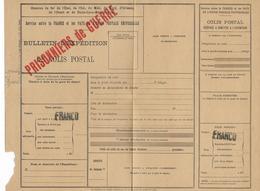 1940/44 - PRISONNIERS DE GUERRE -  FORMULAIRE COLIS POSTAL SPECIAL PG Non UTILISE - Marcophilie (Lettres)