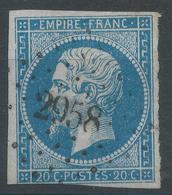 Lot N°45996  N°14A, Oblit PC 2958 Suze-la-Rousse, Drôme (25), Ind 7 - 1853-1860 Napoléon III