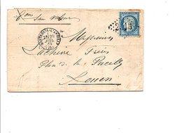 LETTRE DE MONTREUIL-L'ARGILLE POUR ROUEN DU 29/7/1873 - 1849-1876: Période Classique