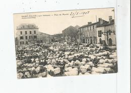 SAINT PALAIS (1900 HABITANTS) PLACE DU MARCHE AUX BOEUFS 1908 - Saint Palais