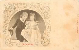 -ref-A952- Astrologie - Zodiaque -le Capricorne -  Decembre - Horoscope - Couple Enfants - Couples - Carte Bon Etat - - Astrologie
