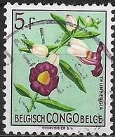 BELGIAN CONGO 1952 Flowers -5f - Thunbergia FU - Congo Belge