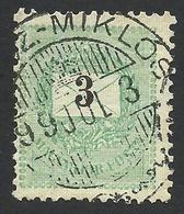 Hungary, 3 K. 1898, Sc # 37, Mi # 43XA, Used, Miklos - Hungary