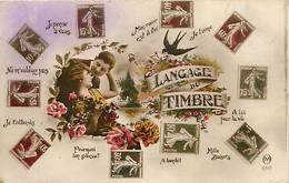 -ref-A950- Timbres - Langage Du Timbre - Langages - Couple - Couples - Carte Bon Etat - - Stamps (pictures)