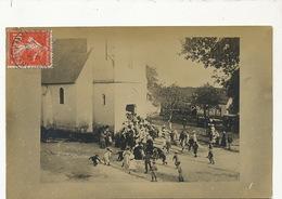 Quantilly Carte Photo   Sortie De Messe Jeux D' Enfants Billes Marbles - France