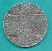 Morocco - Abd Al-Aziz - 10 Dirhams / 1 Rial - AH1321 (1903) - Paris Mint - KMY22.2 - Morocco