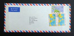 St. Vincent 1981 SG651/653 Airmail Cover Kingstown To Glasgow CDS Machine Cancel. - St.Vincent (1979-...)