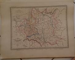 CARTE GEOGRAPHIQUE ANCIENNE: Carte Historique De La POLOGNE Présentant Les Divers Demembremments (voir Descriptif) - Carte Geographique