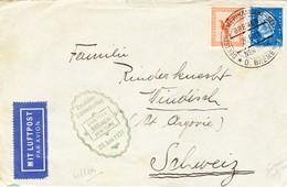 1931 Schleuderflug; Bremen - New York; Brief Nach Windisch Schweiz; Bedarfsspuren - Luftpost