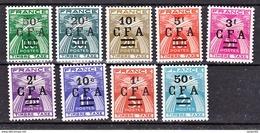 Réunion Taxe  36 44 CFA Gerbes Surchargés Neuf ** MnH Sin Charmela Cote 65.5 - Réunion (1852-1975)