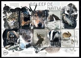 Nederland 2019 Nvph Nr ??, Mi Nr ??, Beleef De Natuur, Zoogdieren, Rabbit, Fox, Bat, Wolf, Badger - Period 2013-... (Willem-Alexander)