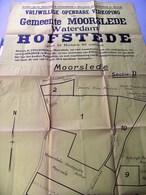 Affiche/poster: Openbare Verkoop MOORSLEDE, Hofstede Waterdam, 9-4-1958, Herberg St-Elooi - Affiches