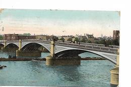 LONDON BATH AND SEA  BRIDGE PONT TIMBRE HALF PENNY VERT 1907 - River Thames