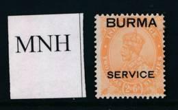 BURMA, 1937 SERVICE 2As6Ps Superb Unmounted Mint MNH, Cat £13++ - Birma (...-1947)