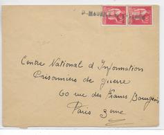 1940 - DEBACLE : EVACUATION MATERIEL POSTAL => CACHET LINEAIRE Sur ENVELOPPE De ST MAURICE (LOIRET) - Marcophilie (Lettres)