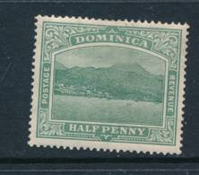 DOMINICA, 1908 ½d Blue-green (crown To Right Of CA) Fine Light MM,SG47,cat £14 - Dominique (...-1978)