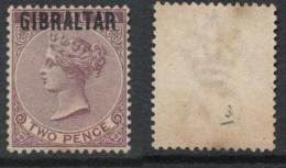 GIBRALTAR, 1886 2d Rare! Unused No Gum, SG3, Cat £140 - Gibraltar