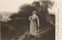 -ref-A947- Arts - Tableaux - Tableau - Peintre Bellanger -la Vieille Tour - Femme - Femmes - Pomme De Terre - Salon 1913 - Peintures & Tableaux