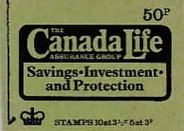 GB GRANDE-BRETAGNE CARNET DE 50 P. THE CANADA LIFE ASSURANCE  AUTUMN 1973 - Libretti