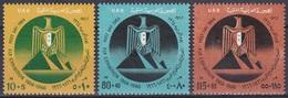 Ägypten Egypt 1964 Postwesen Tag Der Post Day Pyramiden Pyramids Gizeh Wappen Arms Adler Eagles, Mi. 732-4 ** - Ägypten