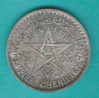 Morocco - Mohammed V - 500 Francs - AH1376 (1956) - KMY54 - Maroc