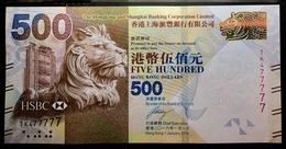 2016 Hong Kong Ang Shanghai Bank   Lunar New Year Edition 500 Dollars UNC  Lucky Number (TK 477777) - Hong Kong