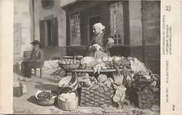 -ref-A945- Arts - Tableaux - Tableau - Salon 1913 -peintre M. A Decrouez - Marchande De Legumes - Marchandes - Metiers - Peintures & Tableaux