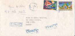 Guinea Air Mail Cover Sent To England 4-7-1990 Topic Stamps - Guinea (1958-...)