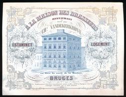 BRUGGE PORSELEINKAART 15X11.5 CM - A LA MAISON DES BRASSEURS - RESTAURANT CHs.VANDEKERKHOVE  EN FACE DE LA STATION - Brugge