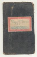 MOMALLE/LIEGE  - Livret De Travail / Werkboekje De 1873 - Munaut, Bounameaux & Prové, Conduites D'Eau- Marcophilie(b242) - Old Paper