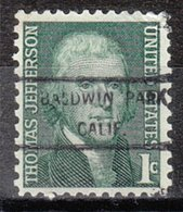 USA Precancel Vorausentwertung Preo, Locals California, Baldwin Park 825 - Etats-Unis