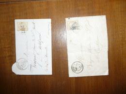 1LETTRE MANUSCRITE (timbrée) & 1ENVELOPPE (timbrée) MILIEU 19°SIECLE - 1849-1850 Cérès