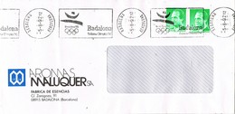 31122. Carta BADALONA (barcelona) 1992. Franqueo Mecanico Subsede Olimpica. Olimpiada 92 - 1931-Hoy: 2ª República - ... Juan Carlos I