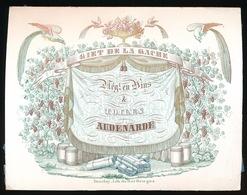 OUDENAARDE PORSELEINKAART 14.5 X 11 CM - GIET DE LA GACHE NEGt.EN VINS & TOILES - AUDENARDE - Oudenaarde