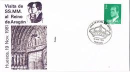 31123. Carta HUESCA 1981. Visiuta De Los Reyes Juan Carlos Y Sofia A ARAGON - 1931-Hoy: 2ª República - ... Juan Carlos I