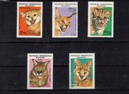 697979497 MALAGASY REPUBLIC POSTFRIS MINT NEVER HINGED POSTFRISCH EINWANDFREI  SCOTT 763 767 WILDCATS - Madagascar (1960-...)