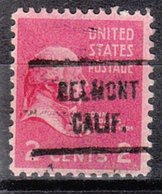 USA Precancel Vorausentwertung Preo, Locals California, Belmont 721 - Etats-Unis