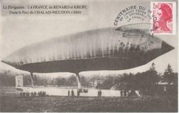 MARQUE POSTALE FRANCE  CENTENAIRE DU PREMIER VOL EN CIRCUIT FERME  88 LAMARCHE - Marcophilie (Lettres)