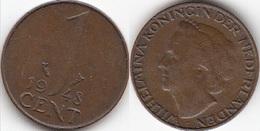 Olanda 1 Cent 1948 KM#175 - [ 3] 1815-… : Regno Dei Paesi Bassi