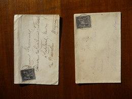 2 ENVELOPPES TIMBREES (Sage Gris 10 Cts Type1) - 1876-1878 Sage (Type I)