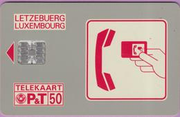 Télécarte Luxembourg °° SC01Ca - Service 0800 Vert -gem- 50u - 1991 - RV - Luxembourg