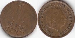Olanda 1 Cent 1958 KM#180 - Used - [ 3] 1815-… : Regno Dei Paesi Bassi