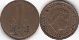 Olanda 1 Cent 1963 KM#180 - Used - [ 3] 1815-… : Regno Dei Paesi Bassi