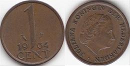 Olanda 1 Cent 1964 KM#180 - Used - [ 3] 1815-… : Regno Dei Paesi Bassi
