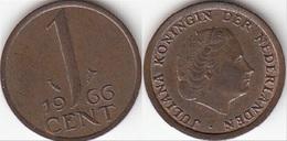 Olanda 1 Cent 1966 KM#180 - Used - [ 3] 1815-… : Regno Dei Paesi Bassi