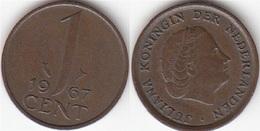 Olanda 1 Cent 1967 KM#180 - Used - [ 3] 1815-… : Regno Dei Paesi Bassi