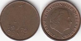 Olanda 1 Cent 1970 KM#180 - Used - [ 3] 1815-… : Regno Dei Paesi Bassi