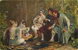 -ref-A937- Judaisme - Judaica - Femme Juive - Tableau - Orientalisme - Tunisie - Carte Bon Etat - - Judaisme